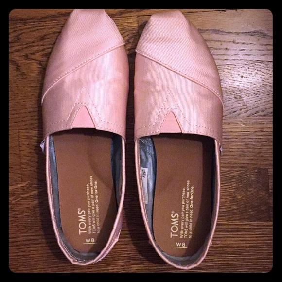 6040055e0a1f Petal Grosgrain Women s Classic Toms (size 8)